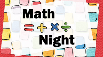 Math Night: Thursday November 10, 5:00-6:30pm