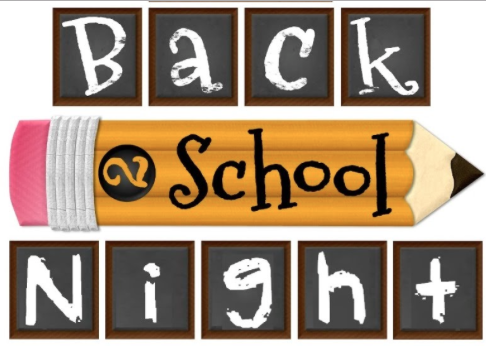 Back to School Night, Thursday August 25, 5 pm