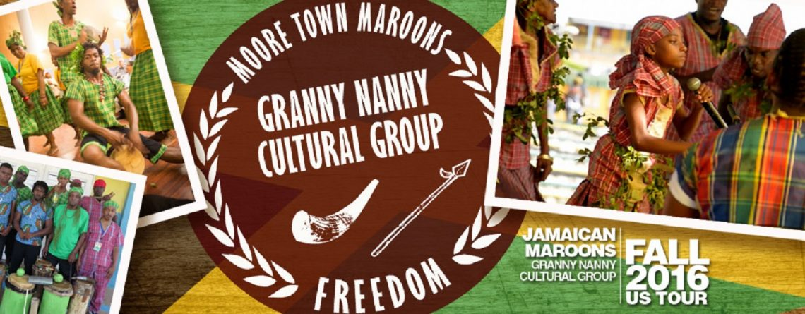 Jamaican Maroon performing arts ensemble, the Granny Nanny Cultural Group, at ICS