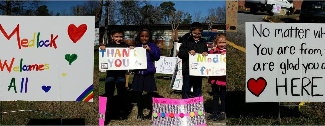 Medlock Neighbors Show Their Support to our International Families
