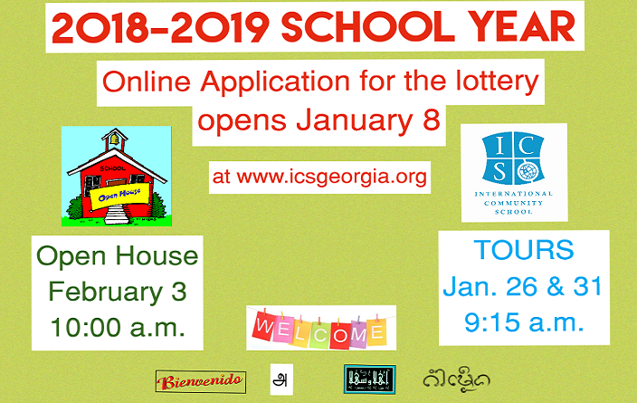Applications for the 2018-2019 School Year