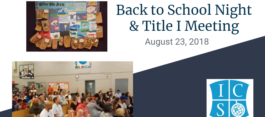 Back-To-School Night & Title I Meeting