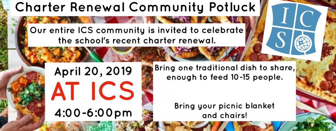 Community Potluck – Celebrating ICS Charter Renewal
